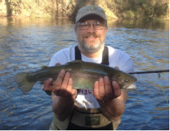 Jeff Ingram with his big rainbow